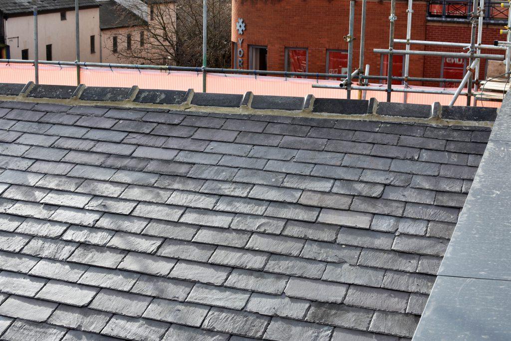 refurbished roof at lamberts yard