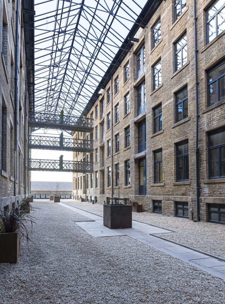 The glass atrium at the heart of Conditioning House