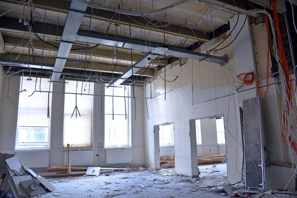 Great George Street strip out works interior2